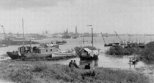 Antwerp Harbour postcard