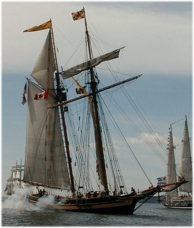 Baltimore Clipper firing guns