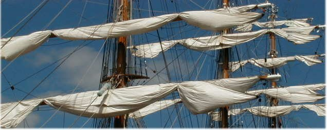square-rigged sails