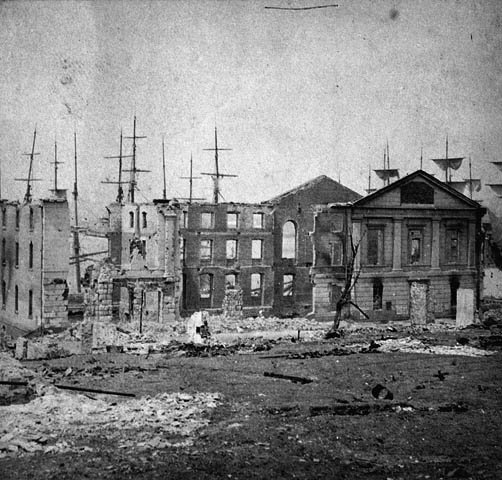 customs house after fire
