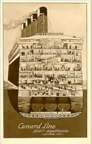 Aquitania cross-section