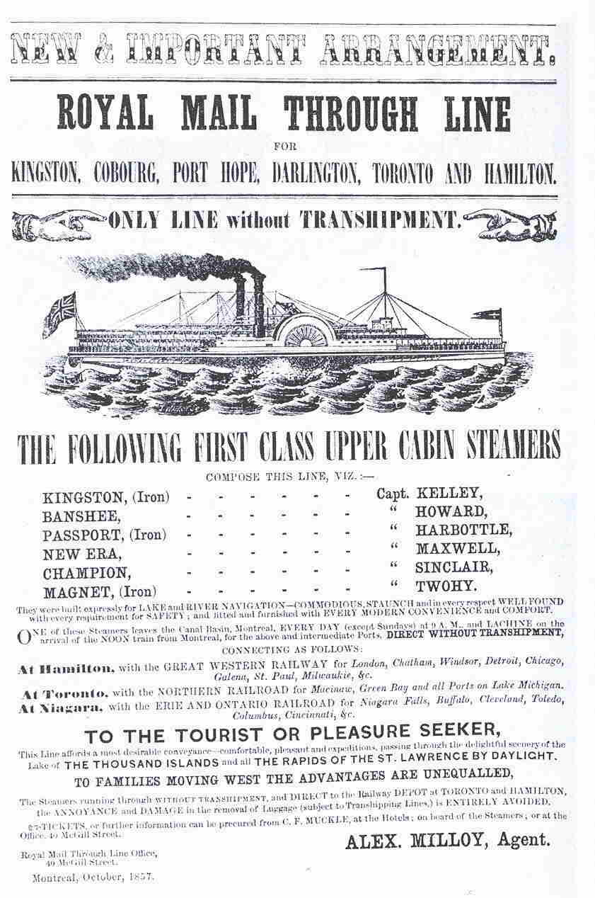 Great Lakes Steamer Ad