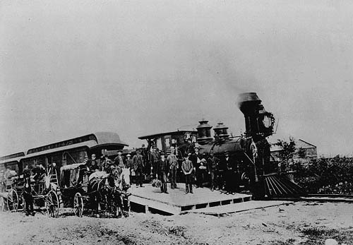 First Canadian train Atlantic to Pacific 1886