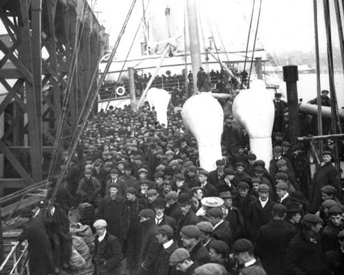 Immigrants arriving at St. John, NB