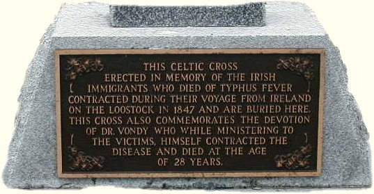 Celtic Cross inscription